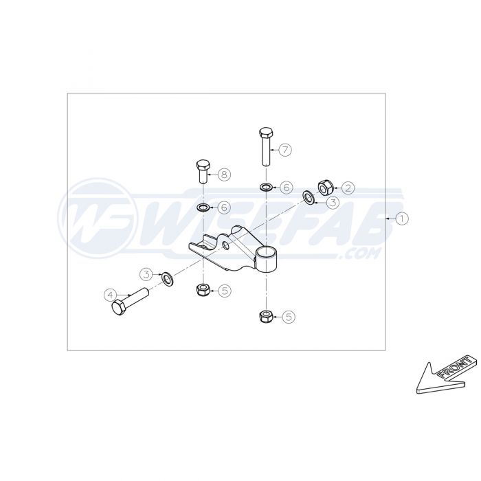 Nissan 370z Front Lower Control Arm Support
