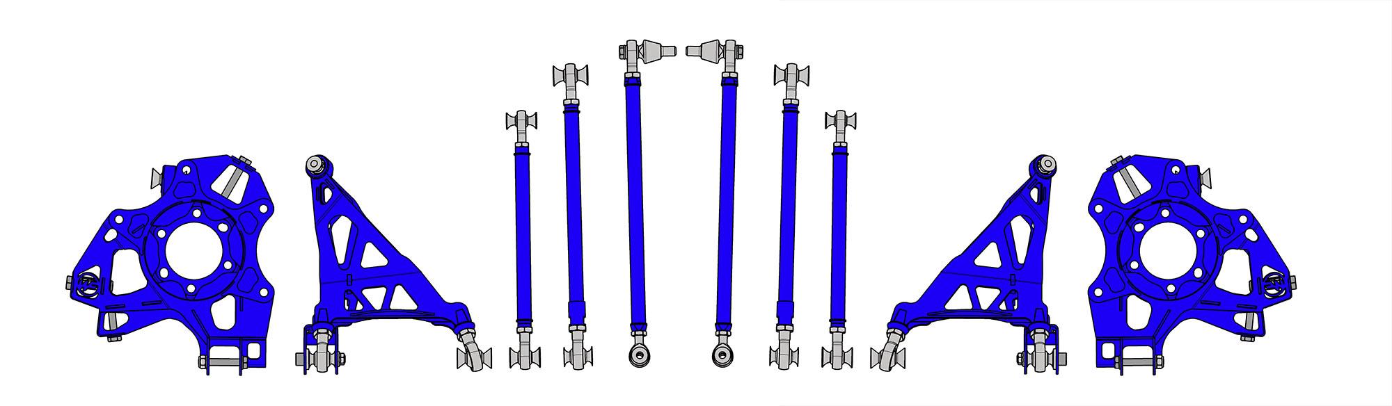 Wisefab rear suspension kit for Nissan 350Z